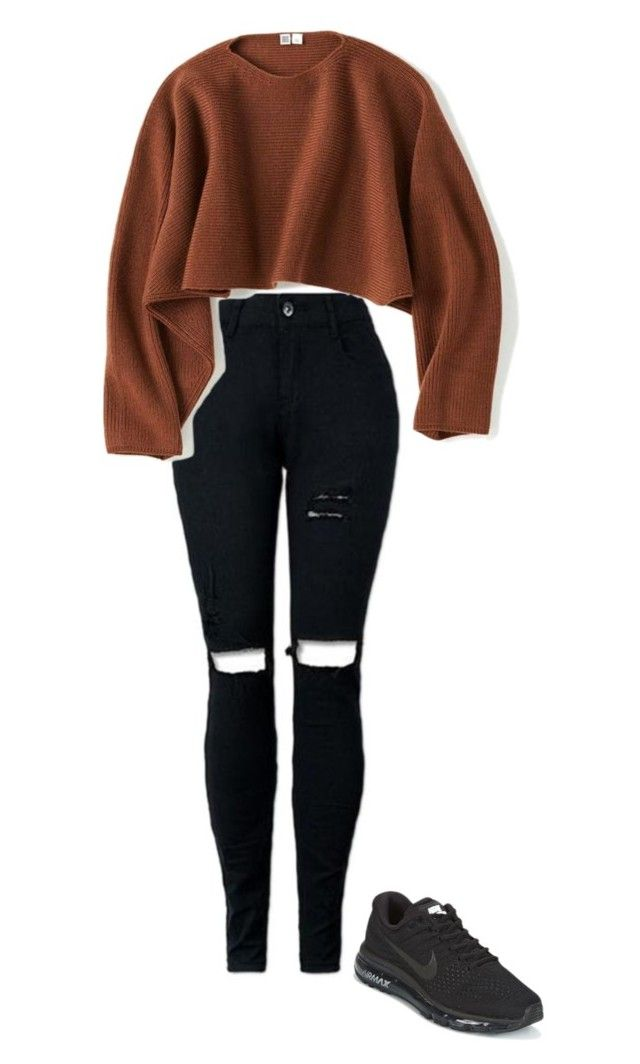 """""""Untitled #64"""" by luciwren on Polyvore featuring NIKE and Uniqlo"""