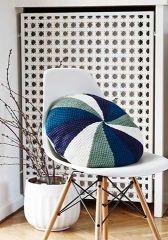 Round Pillow in tunesian crochet