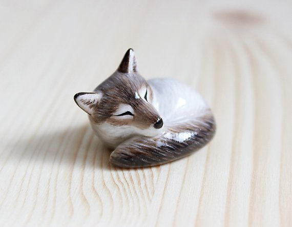 Hey, I found this really awesome Etsy listing at https://www.etsy.com/listing/267038388/sleeping-grey-wolf-figurine