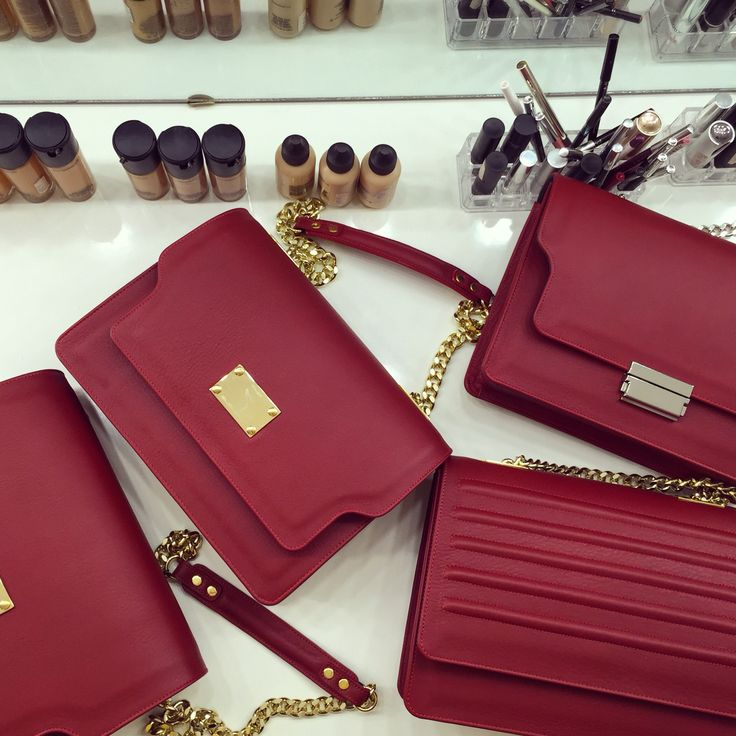 #the5thelementbags #rosettishowroom #red #leather #goodies #holiday #gifts