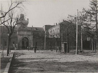 Antigua Cárcel Modelo, donde ahora está situado el Ministerio del Aire en Moncloa.