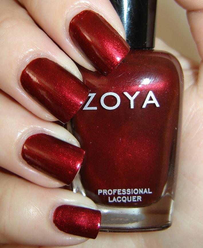 Zoya Colbie - School Spirit Nails Boomer Sooner and Wooo Pig Sooie!  Love this color.