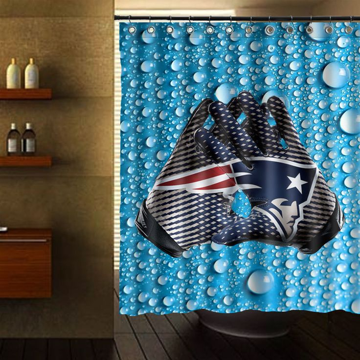 """ENGLAND PATRIOTS SHOWER CURTAIN 60"""" X 72"""" #Unbranded"""