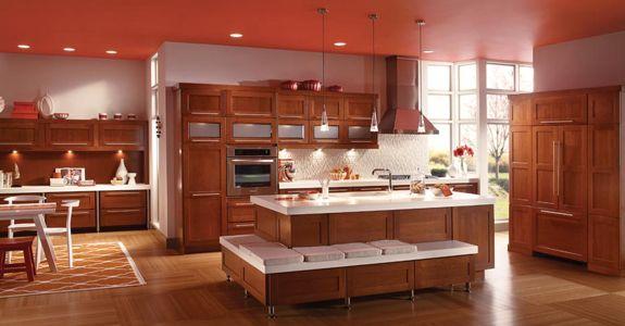 Kitchens Ideas, Islands, Kitchens Layout, Cherries, Kitchens Cabinets
