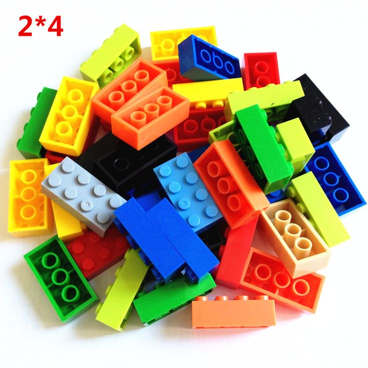 100g/lot! High Bricks 2*4 8 Particles Classic Small Building Blocks DIY Toys Compatible with legoe lepin