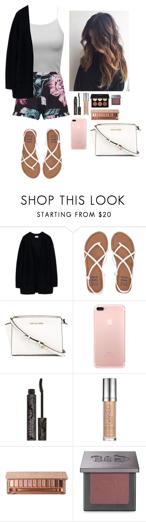 """""""Sydney opera house/dinner Monday May 29 summer 7Australia 1"""" by soccerstar913 ❤ liked on Polyvore featuring Topshop, Acne Studios, Billabong, MICHAEL Michael Kors, Urban Decay and Anastasia Beverly Hills"""