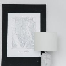 Classic Scandinavian table lamp with a marble base. // Cole - Sessak
