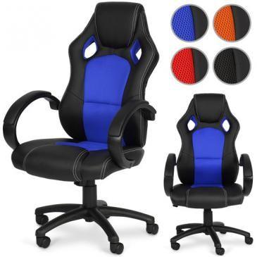 Jago24Bürostuhl ergonomisch in 4 Farbenblau