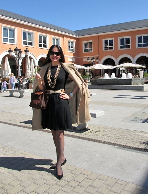 Tahari Wool Coat; Jones New York Skirt; Kier+J Cashmere & Silk Knit T-Shirt; Longchamp Le Pliage Bag; Adrienne Landau Studio Silk Scarf & Uterque Leather Belt Tip; D Sunglasses; Anne Klein Porcelain Watch; Vintage Patent Leather a Suede Bow Flats. Uncomplicated and classic outfit for a trip to Europe.  http://www.akeytothearmoire.com/post/21382224118/hail-to-easter