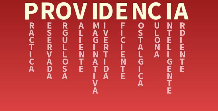 Significado del nombre: providencia - Descubre el significado de tu nombre