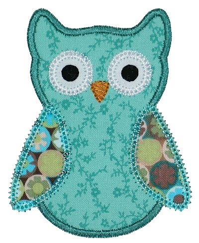 I'm lovin this little owl applique,,,for blankets, clothes, quilts