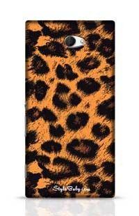 Leopard Skin Sony Xperia M2 Phone Case
