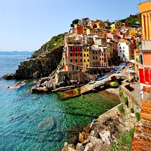 Cinque Terre, Italy  A must see... See it by ferry, walk between the five towns, and enjoy some gelato or a cappuccino. Bellisimo!