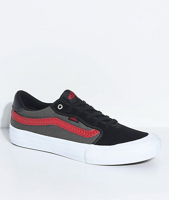 a8a71f1553 Vans x Spitfire Style 112 Pro Black   Red Skate Shoes in 2019