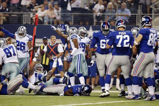 week one: Cowboys vs Giants 36---31