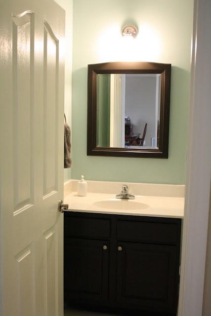 bathroom wall color: Guest Bathroom Colors, Colors Combos, Color Combos, Bathroom Wall Colors, Upstairs Bathroom, Perfect Colors