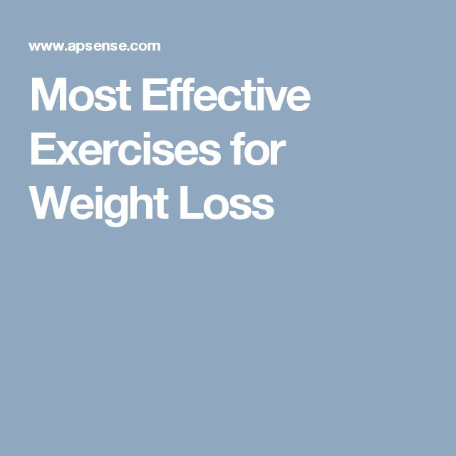 Most Effective Exercises for Weight Loss