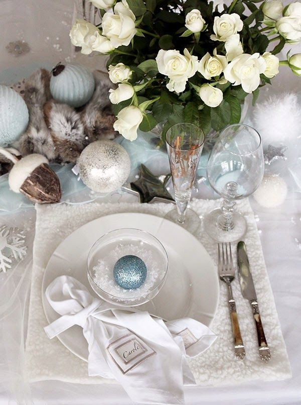 Christmas and/or New Year table setting/tablescape and ...