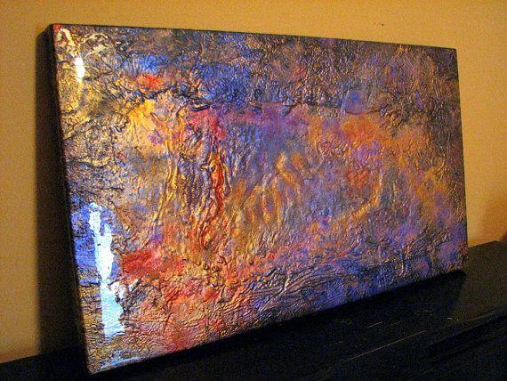 Солнечная вспышка - 32x18 Оригинал Аннотация с высоким блеском Ресин Finish