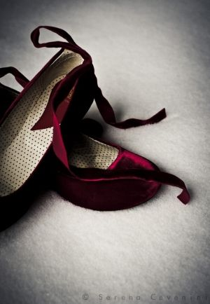 Cherry Burgundy...the color of Fall 2014: Burgundy velvet flats