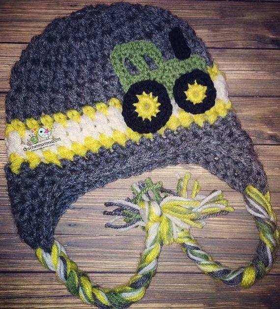Tuque de tracteur John Deere inspiré par crochetmomma2011 sur Etsy