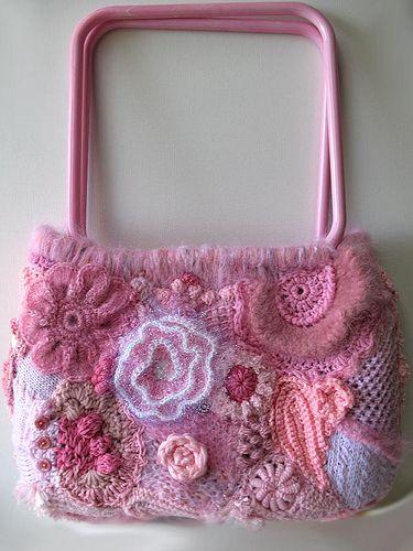 beautiful #crocheted #purse #freeform