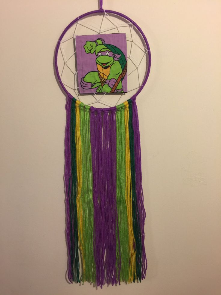 Dreamcatcher Hande Made - TMNT - Donatello - 20cm Hoop by DreamcatchersByIsale on Etsy