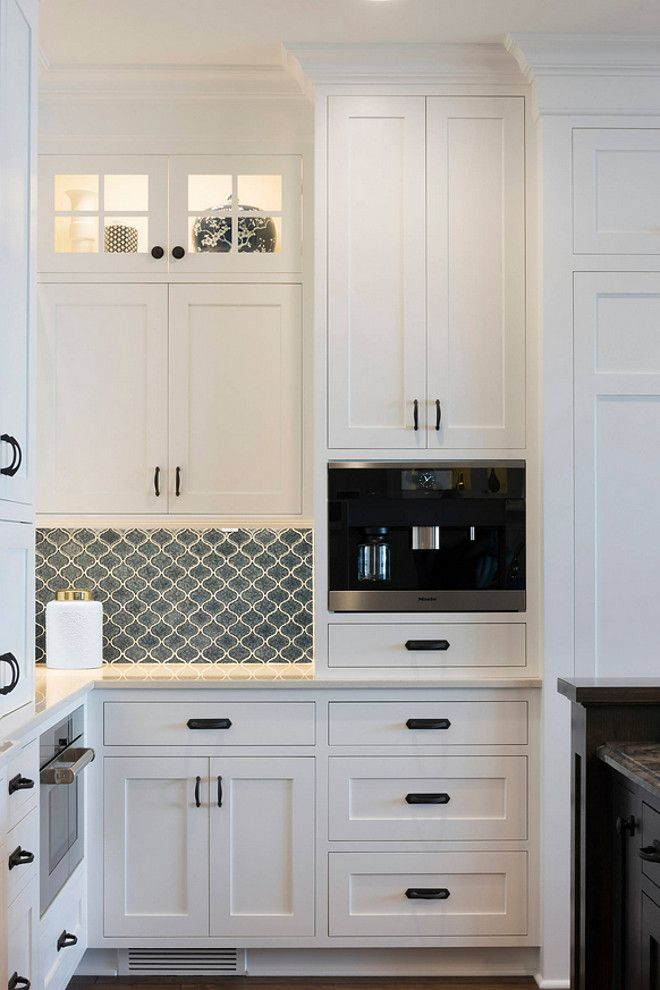 Lake Cottage Kitchen- Perimeter Cabinets Paint Color: Enameled Benjamin Moore OC-17 White Dove.