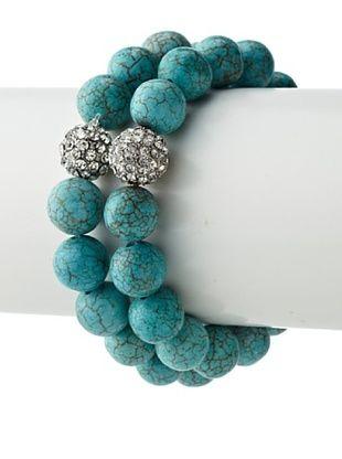 53% OFF Leslie Danzis Turquoise Rondelle Bracelet