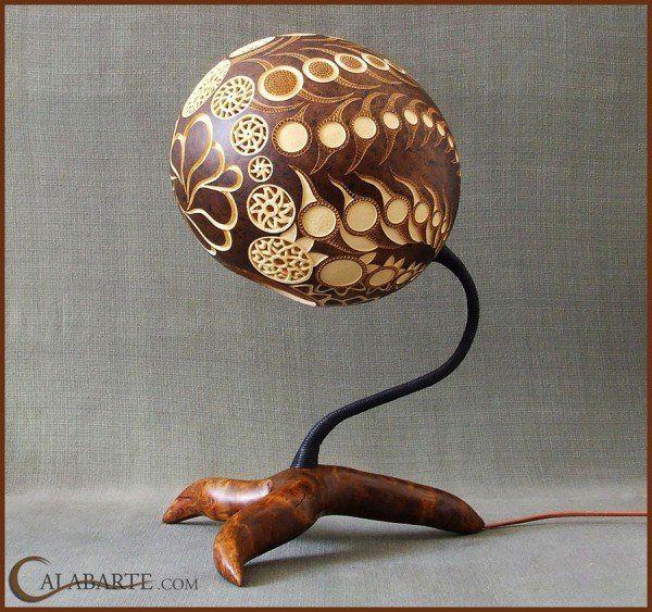 Изумительные лампы из тыквы