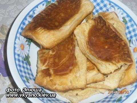 Пирожки с сыром из слоеного бездрожжевого теста рецепты 7