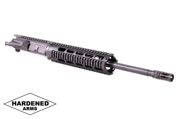 "Product Details: 16"" 300 Blackout Melonited 10"" Tactical Quad Rail AR15 Upper - Pistol Length Gas System"