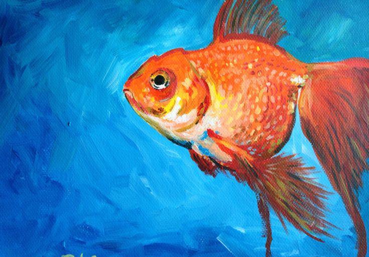 Goldfish  Acrylic on paper  2015