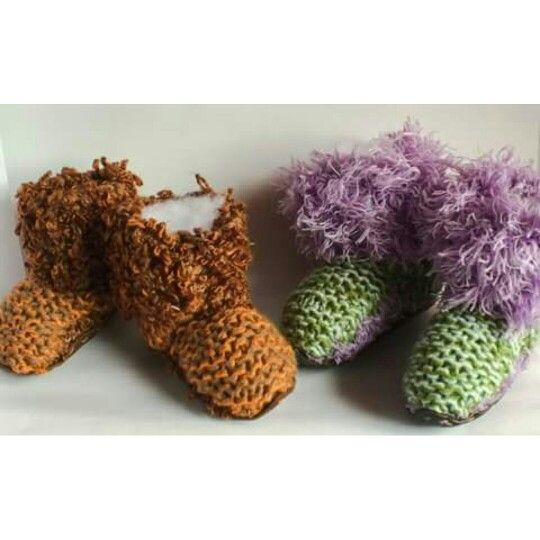 Keep little feet warm this winter, with sock & sole hand knitted socks ... with leather soles.