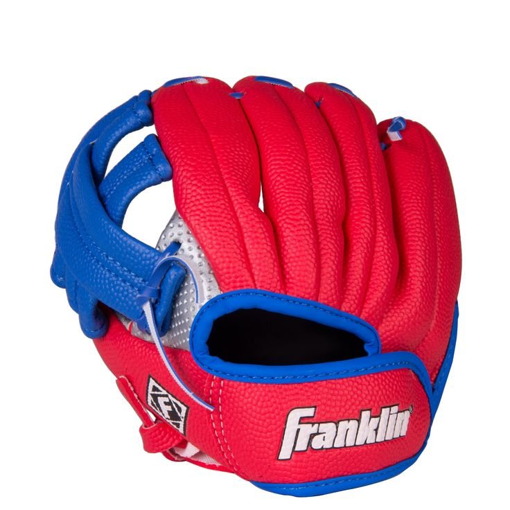 """Franklin Sports Air Tech Left Handed Throw Youth Baseball Glove, 9-Inch. For a left handed thrower, 9"""" soft foam baseball glove. Adjustable self-stick wrist closure. Colors may vary. Ages 3 and up. Right Hand Throw = Left Hand Glove, Left Hand Throw = Right Hand Glove."""