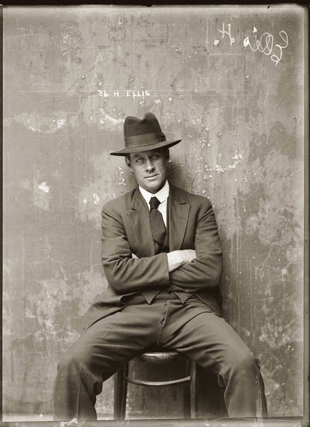 Mugshot from the 1920s gangster squad