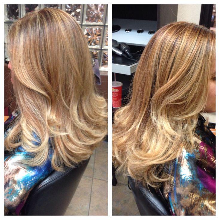 84 melhores imagens de balayage ecaille no pinterest balayage cabeleireiro e cabelo curto - Balayage caramel blond ...