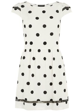 Spot fit and flare dress - Casual Dresses - View All  - Dresses