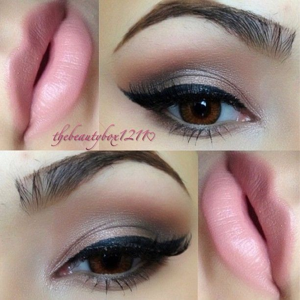 Shadows from the Naked palette 1⃣Toasted applied wet all over the lid 2⃣Sin on the inner corner & center of lid 3⃣Hustle & Creep in the crease 4⃣Mac Haux to blend it out 5⃣Lip combo is Mac Stripdown lip liner + Angel lipstick