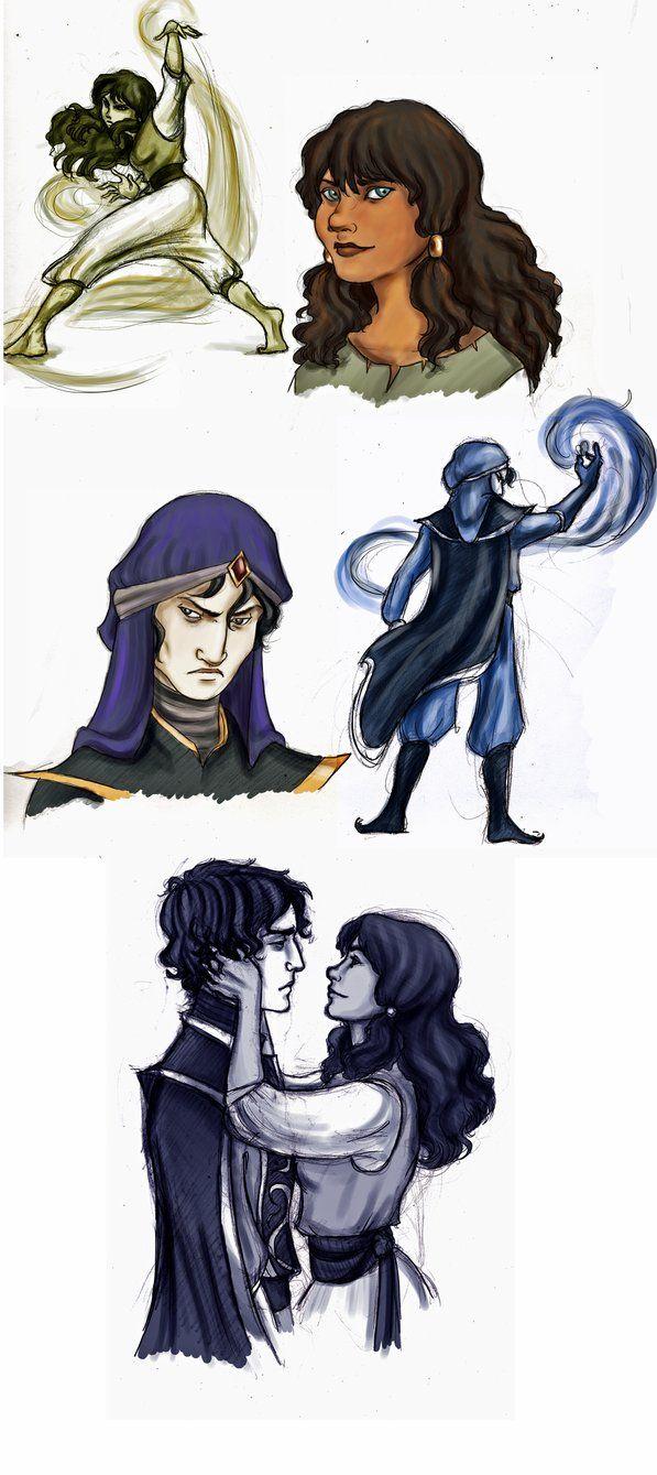 mozenrath and sadira by xcgirl08 . I remember these Aladdin TV series characters. I ship them so bad!