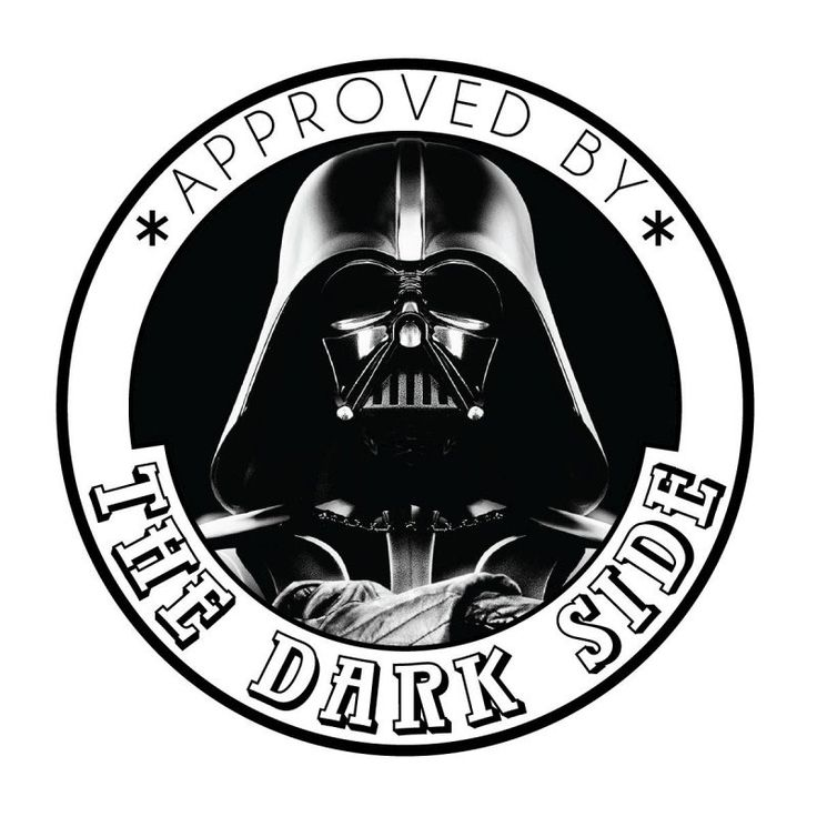 "Tampon ""Approved by the Dark Side"" pas cher"