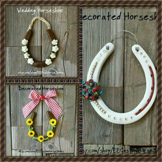 SALE!  50% OFF  #EECustomHorseShoes #decoratedhorseshoes #etsy #horseshoes #horses #sale