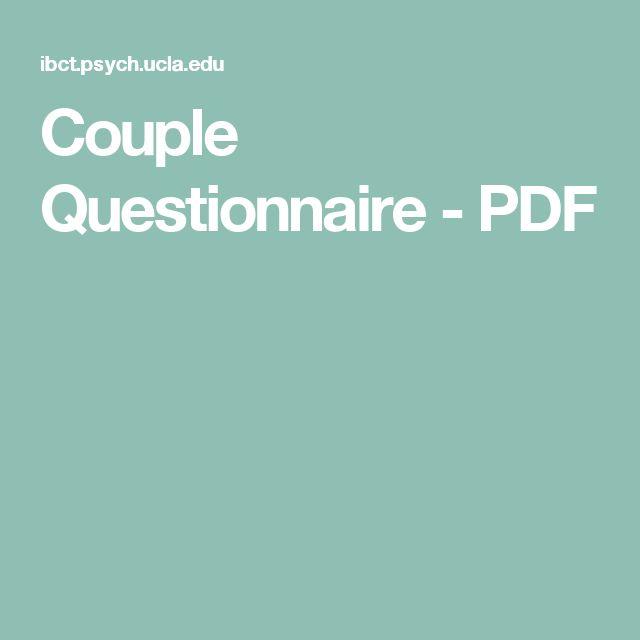 Couple Questionnaire  - PDF