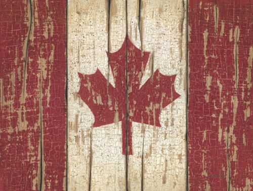 - rustic Canadian flag  simple as that: Canada Day inspiration: 25 DIY ideas, crafts, printables and recipes for July 1st