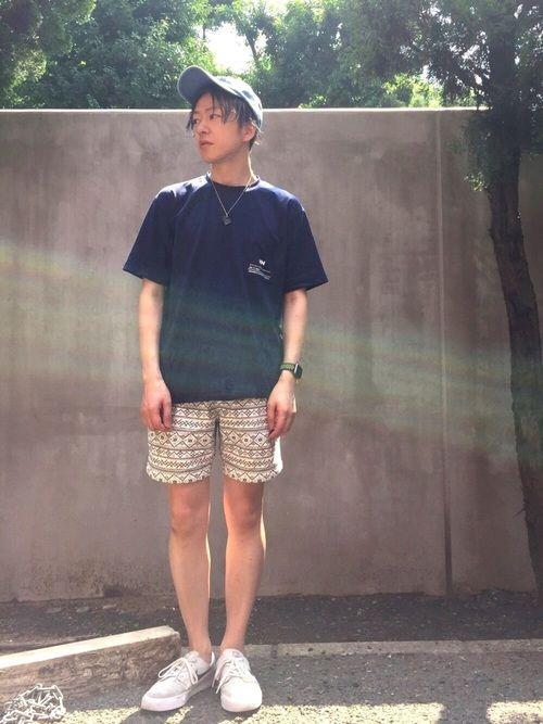 アウトドアーなコーデ☆ ボックスシルエットのヘリーハンセンTシャツはラッシュガードにもなる機能性素材