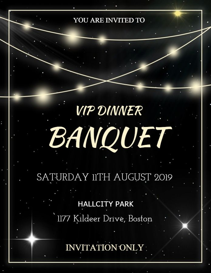 banquet dinner event invitation template design banquet