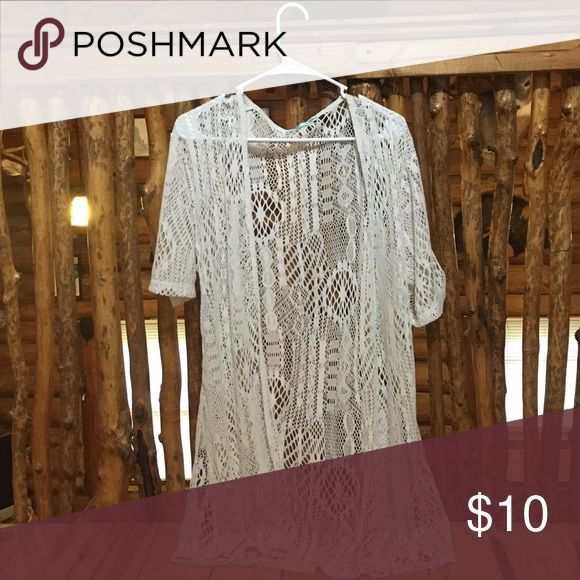 Cream Bikini Cover Up! Maurice's NWOT cream colored cover up, never worn as it was too big. Maurices Swim Coverups