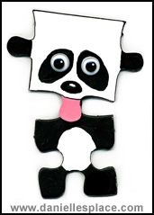 Panda Bear Puzzle Piece Craft www.daniellesplace.com