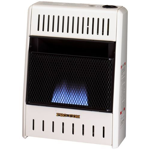 Procom MN100HBA Ventless Natural Gas Blue Flame Space Heater - 10,000 BTU, Manual Control - Factory Buys Direct