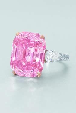 The GRAFF Pink - 23.88cts - the most beautiful internally flawless, vivid natural pink diamond in the world.